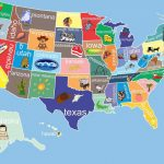 Kids United States Map Childrens Room Decor Childrens Art Classroom Inside State Map For Kids