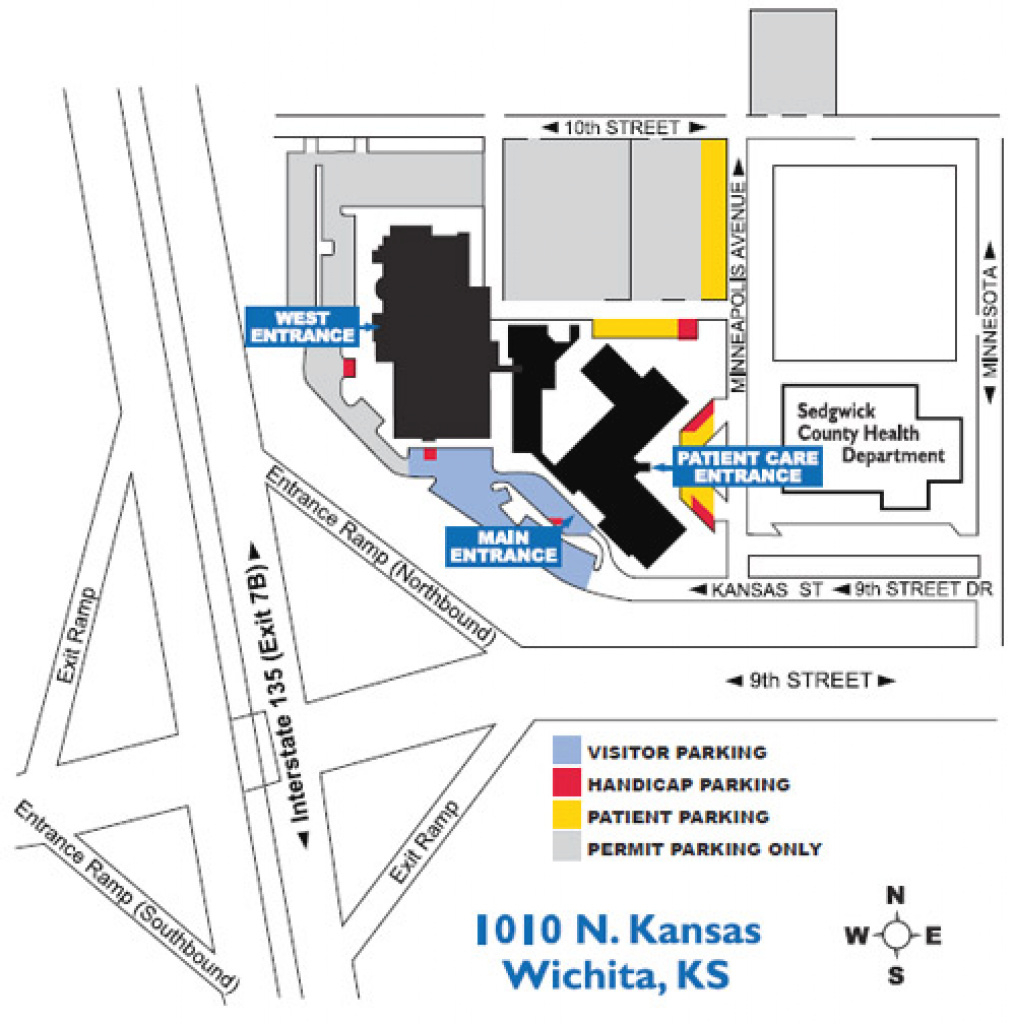 Kusm–W: Academic & Student Affairs - Visiting Medical Students in Wichita State Parking Map