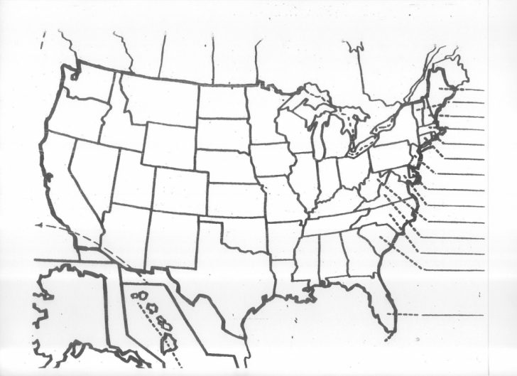 Blank State Map Quiz