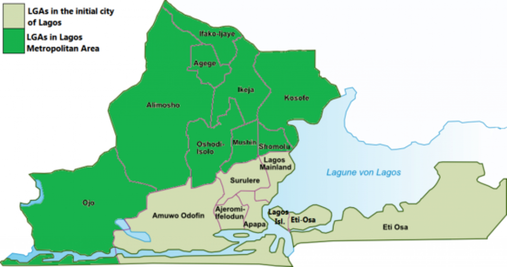 Lagos Map: The Map Of Lagos State (With Pictures) within State Map Com