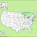 Lake Erie Maps | Maps Of Lake Erie In Map Lake Erie Surrounding States