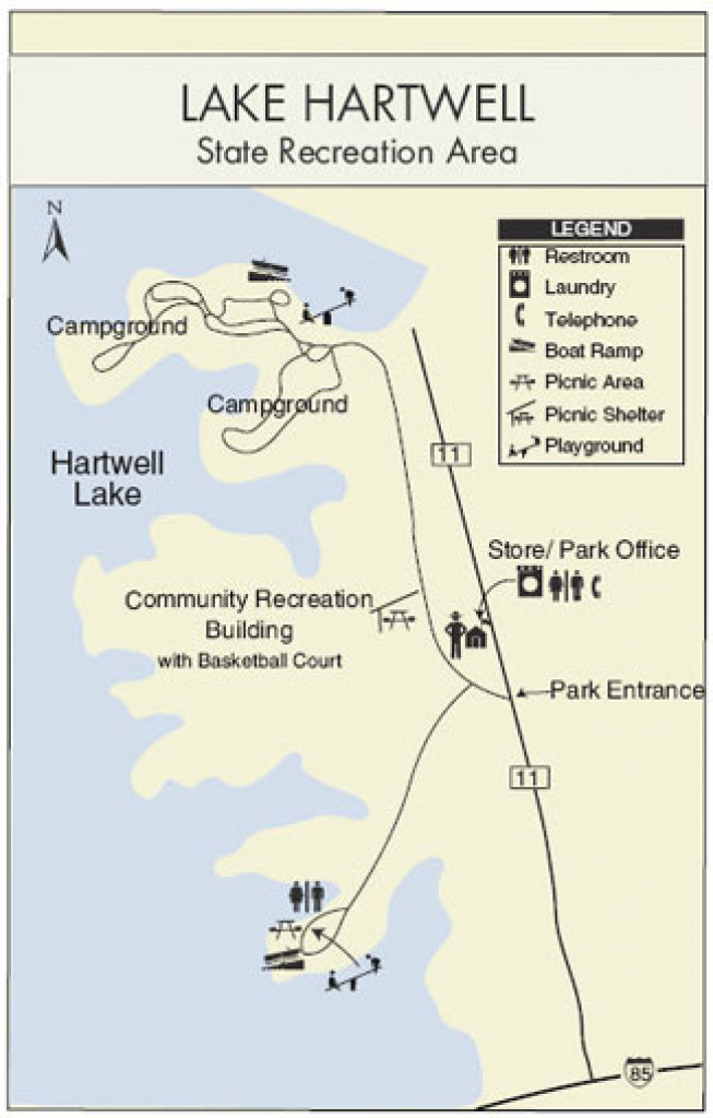 Lake Hartwell State Park & Recreation Area for Lake Hartwell State Park Campground Map