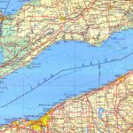 Large Detailed Map Of Lake Erie With Map Lake Erie Surrounding States