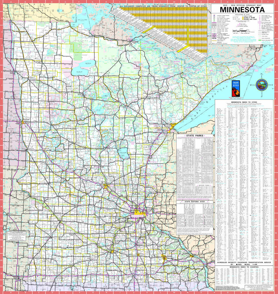 Large Detailed Map Of Minnesota With Cities And Towns with regard to Mn State Map Of Cities