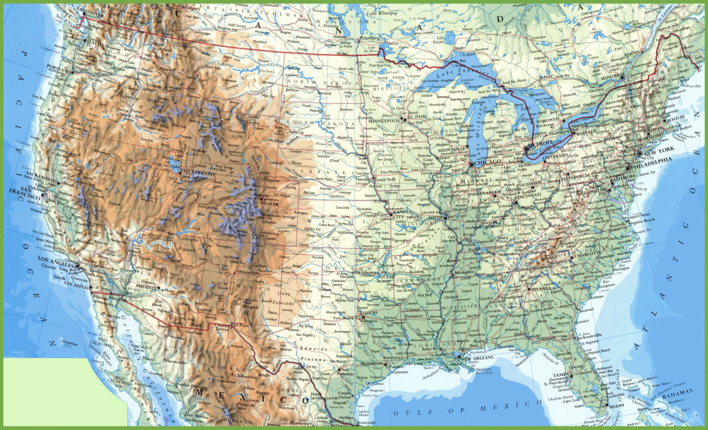 Large Detailed Map Of Usa With Cities And Towns with Usa Map With States And Cities Hd
