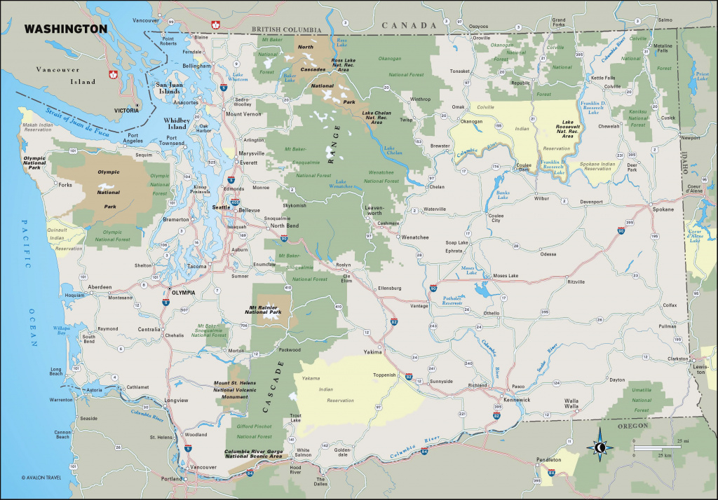 Large Detailed Map Of Washington State With National Parks And intended for Washington State National Parks Map