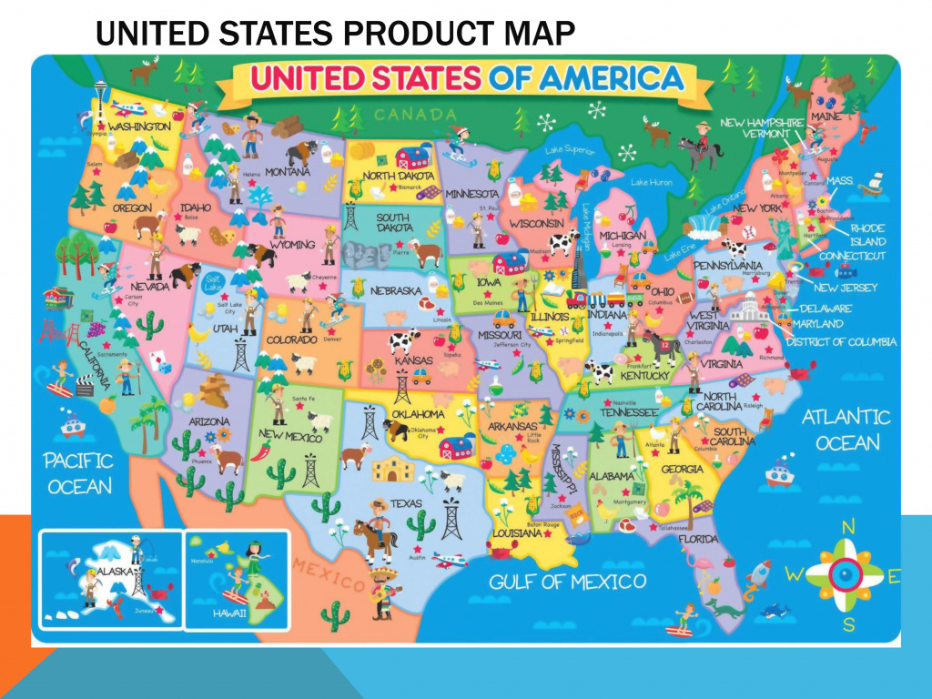 Large Detailed Product Map Of The United States | Usa (United States with regard to United States Product Map