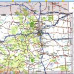 Large Detailed Roads And Highways Map Of Colorado State With All With Colorado State Parks Map