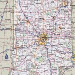 Large Detailed Roads And Highways Map Of Indiana State With Cities With Regard To Indiana State Map Printable