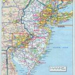 Large Detailed Roads And Highways Map Of New Jersey State With Within Nj State Parks Map