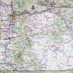 Large Detailed Roads And Highways Map Of Oregon State With All In Colorado State Driving Map
