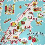 Large Illustrated Tourist Map Of New York City. New York City Large Regarding New York State Tourism Map