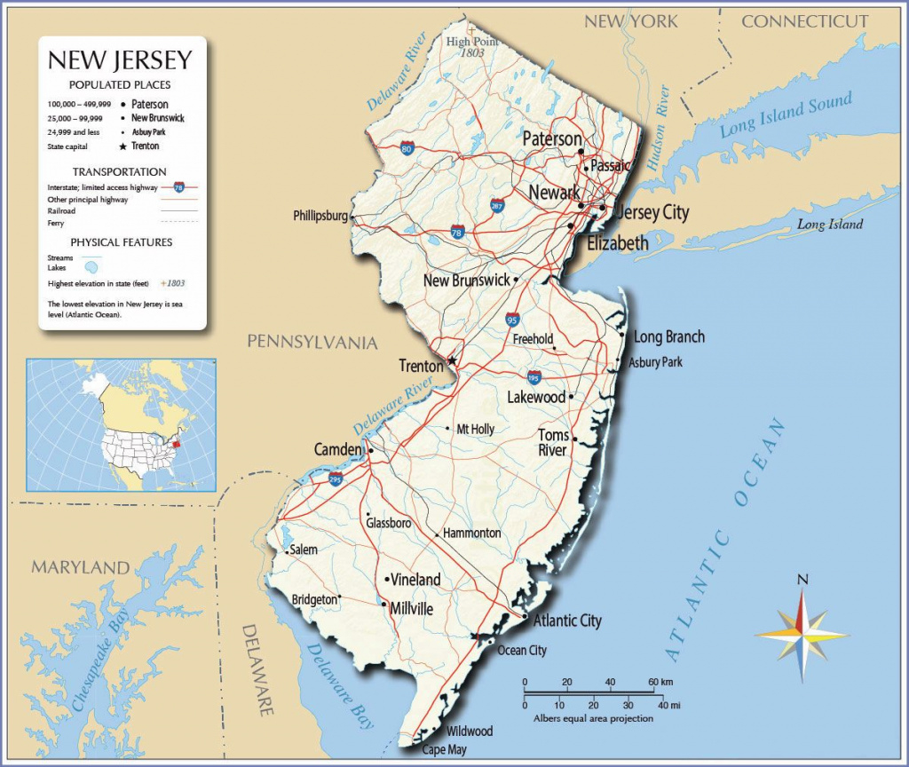 Large New Jersey State Maps For Free Download And Print | High intended for Map Of New Jersey And Surrounding States