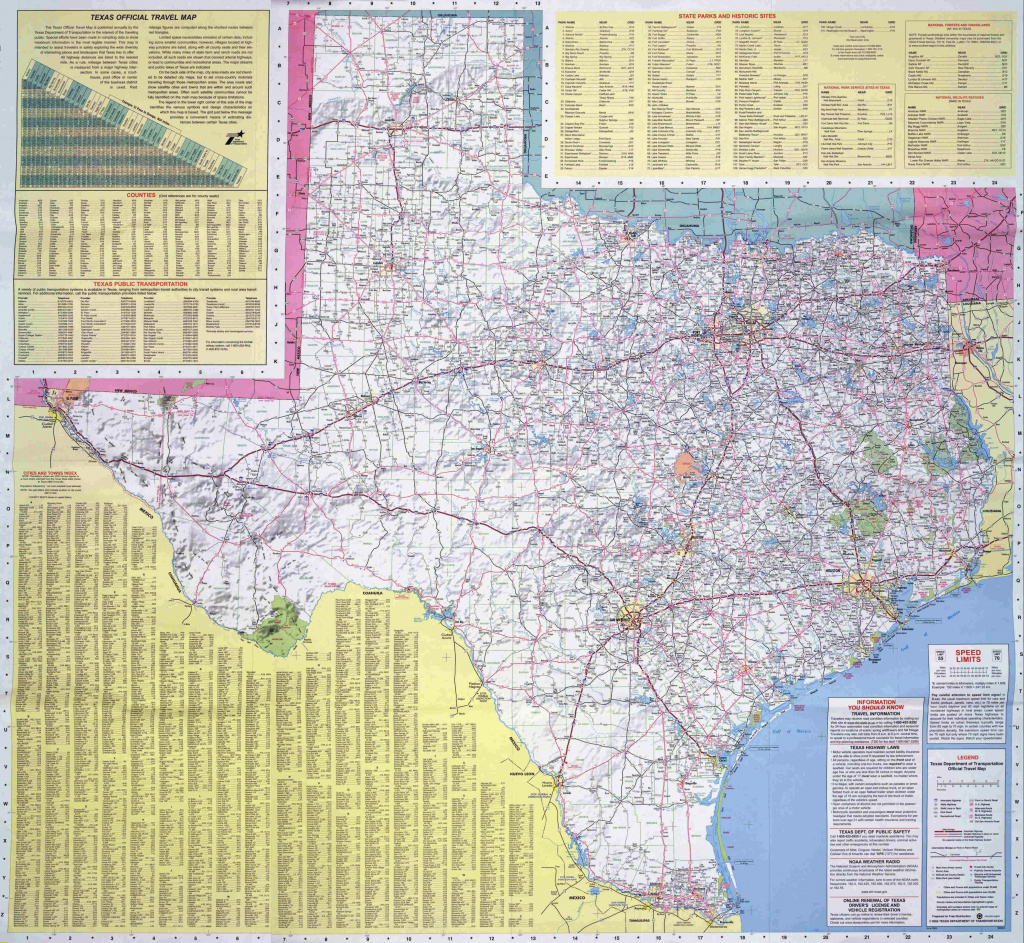 Large Road Map Of The State Of Texas. Texas State Large Road Map in Texas State Highway Map