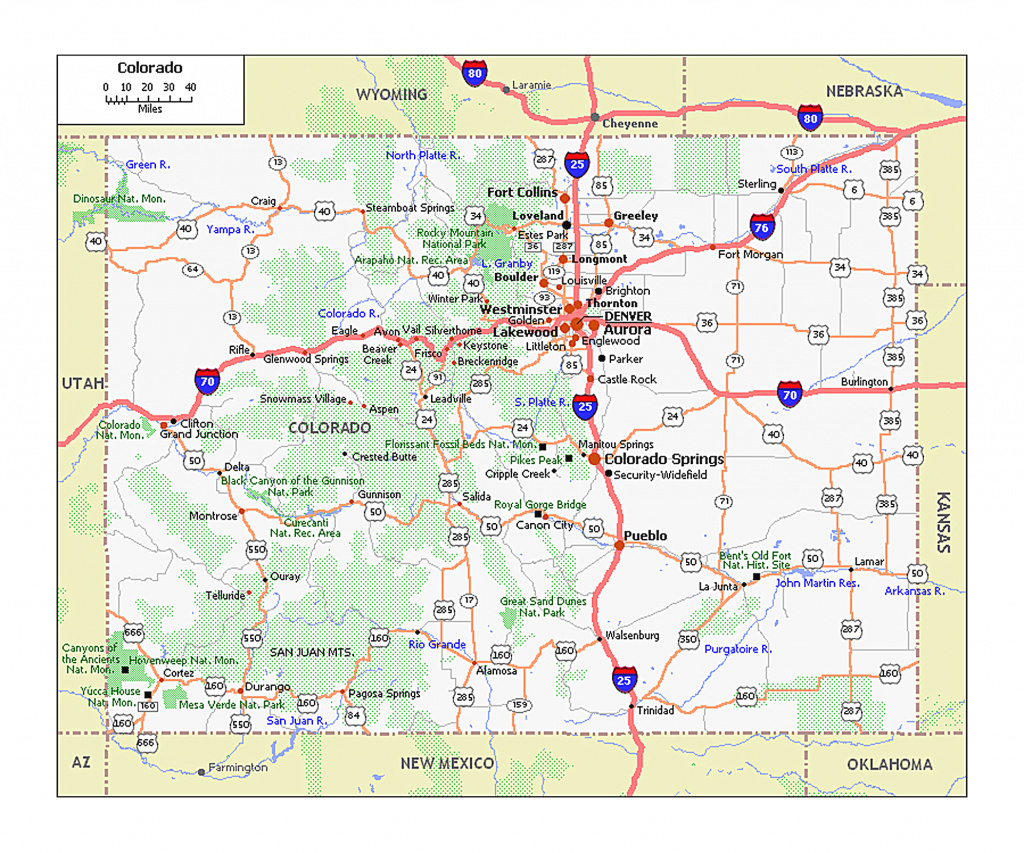Large Roads And Highways Map Of Colorado State | Colorado State in Picture Of Colorado State Map