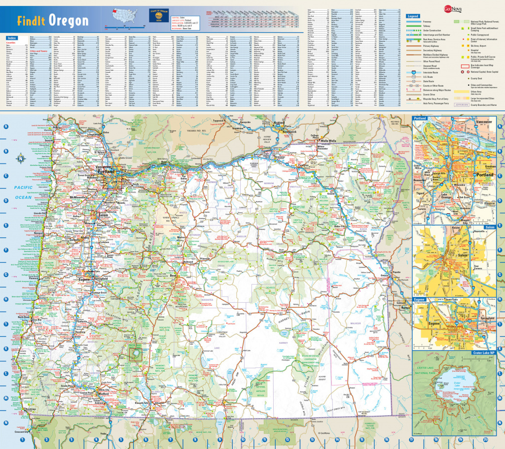 Large Roads And Highways Map Of Oregon State With National Parks And intended for Oregon State Parks Map