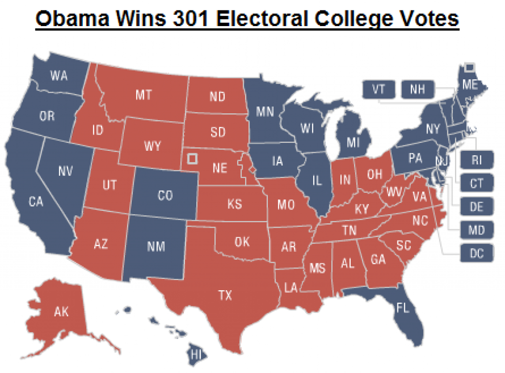 Latino Influence States Even More Important In 2012 Electoral with Republican States Map
