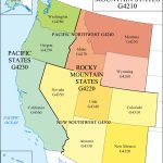 Lc G Schedule Map 10: Pacific And Mountain States | Waml Information In Pacific States Map