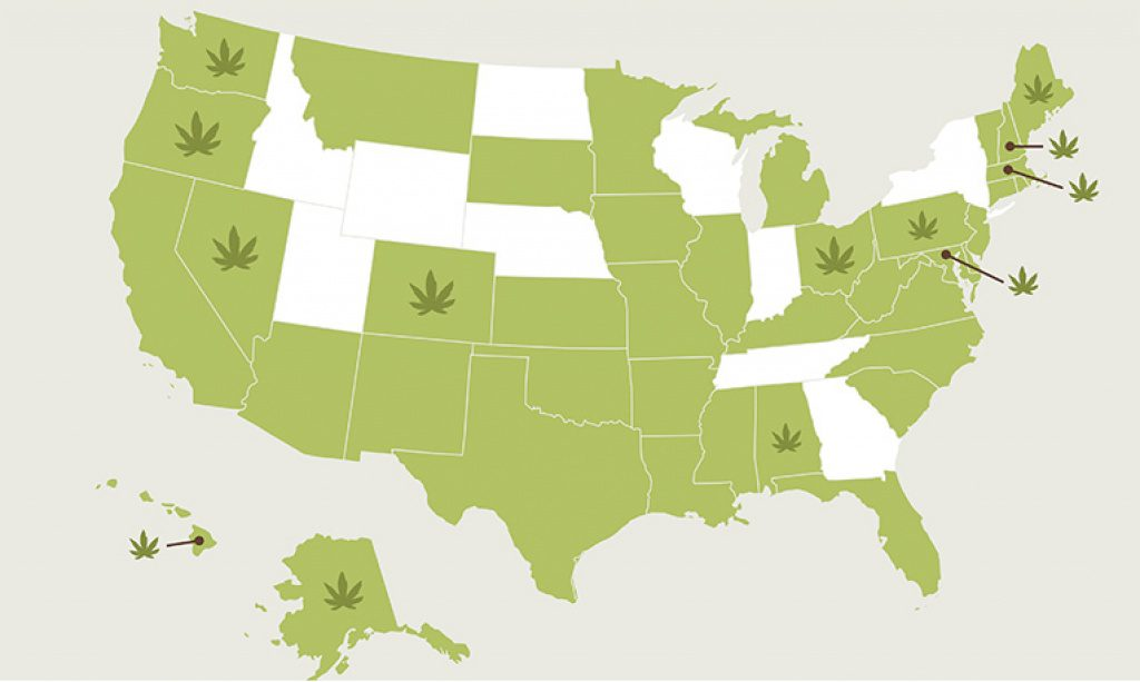 Legal Marijuana Is The Fastest Growing Industry In The U.s   Clark Pertaining To States Where Weed Is Legal Map 2016