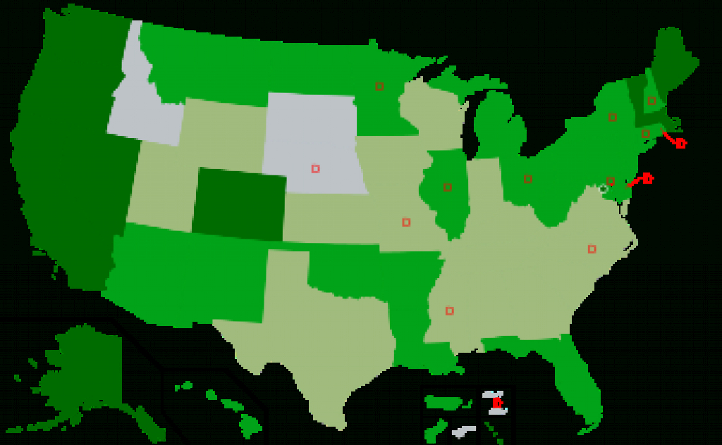 Legality Of Cannabisu.s. Jurisdiction - Wikipedia throughout Legal States For Weed Map