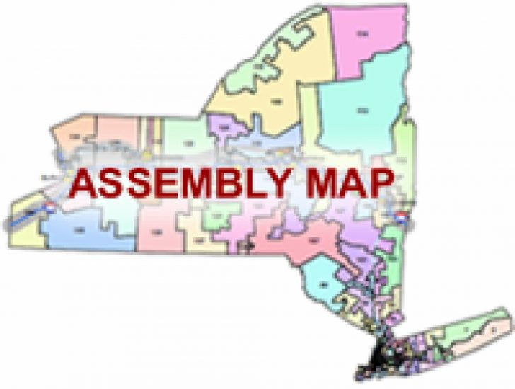 New York State Assembly District Map