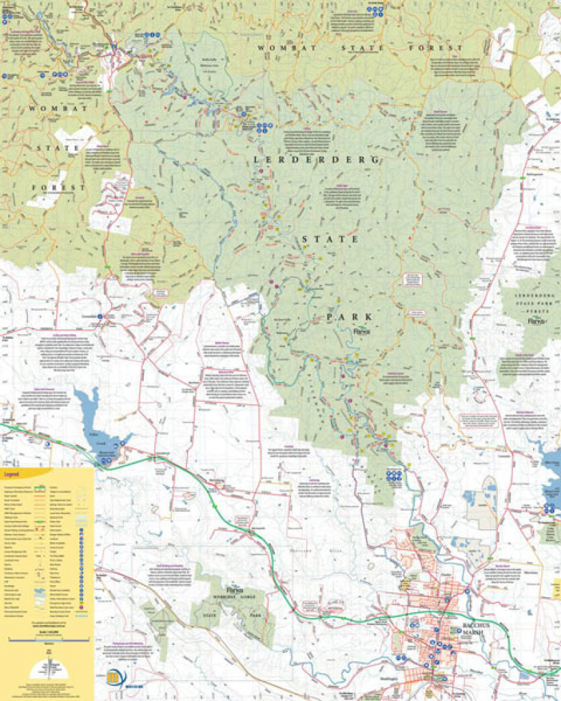 Lerderderg And Werribee Gorges Map Meridian | Maps | Books | Travel with regard to Free Wombat State Forest Map