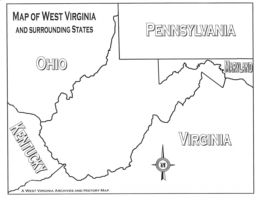 Lesson Images regarding Map Of Virginia And Surrounding States