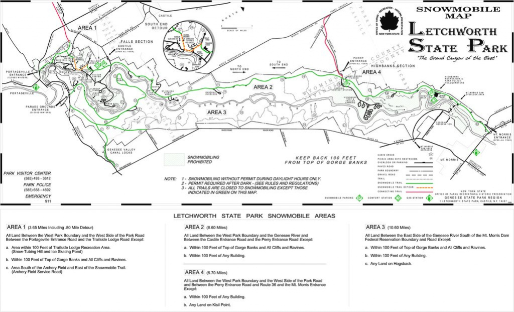 Letchworth State Park - Maplets within Letchworth State Park Trail Map