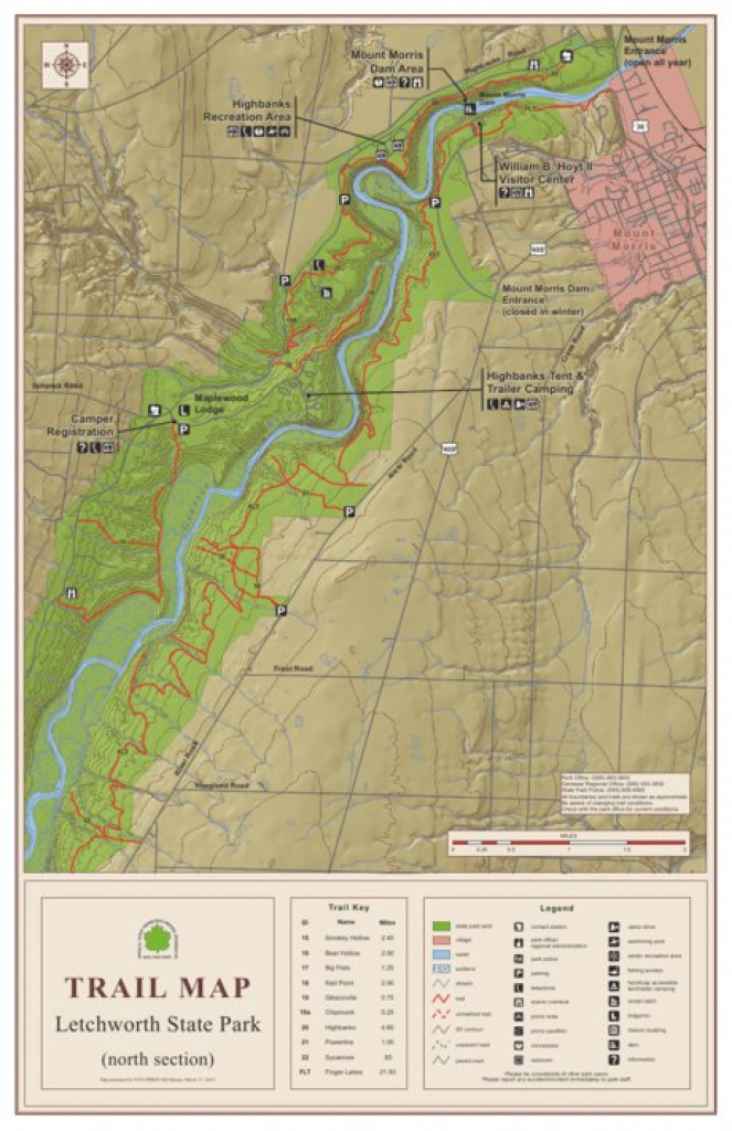 Letchworth State Park Trail Map North - New York State Parks in Letchworth State Park Trail Map