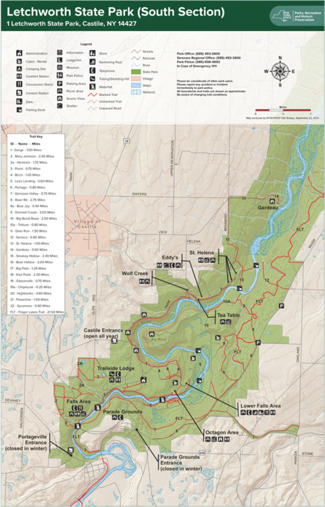 Letchworth Trail Map South - Mobitech - Avenza Maps with Letchworth State Park Trail Map