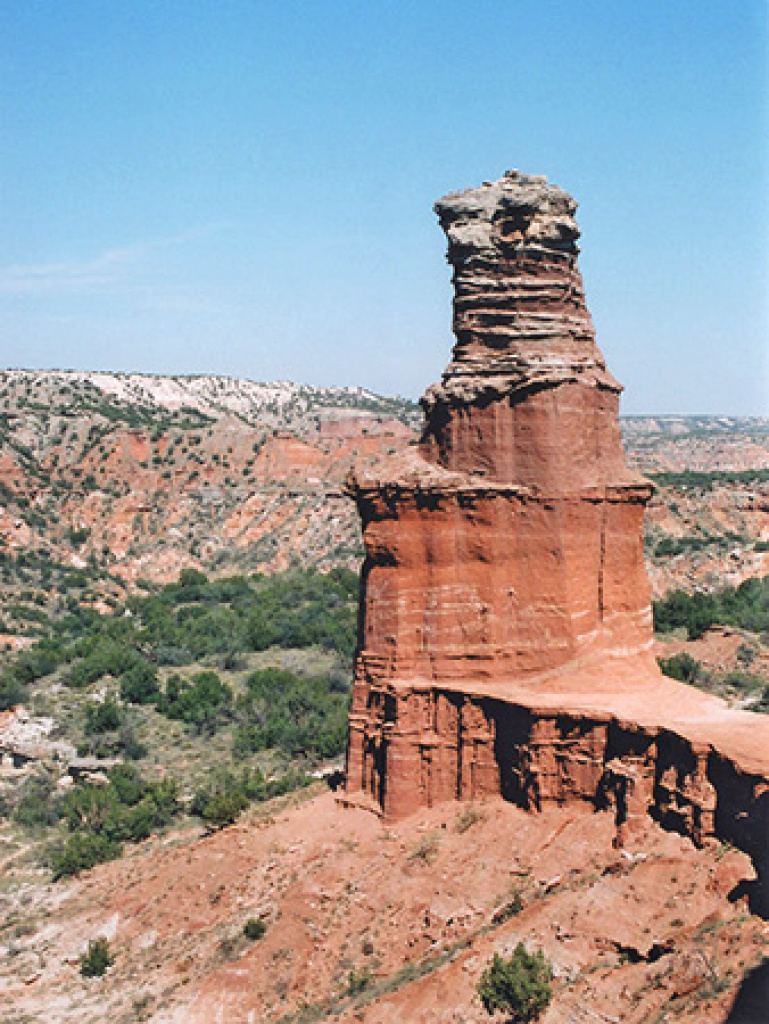 Lighthouse Trail, Palo Duro Canyon State Park, Texas pertaining to Palo Duro Canyon State Park Trail Map