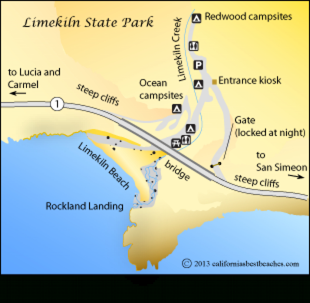 Limekiln Beach - California's Best Beaches - Mobile regarding Limekiln State Park Campground Map