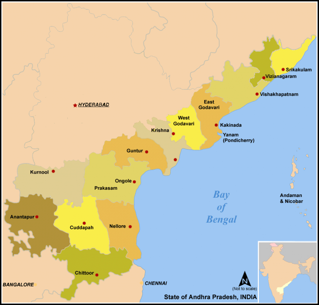 List Of Districts In Andhra Pradesh - Wikipedia with Andhra Pradesh State Capital Map