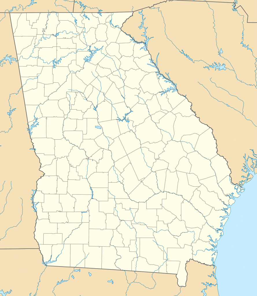 List Of Georgia State Parks - Wikipedia in Georgia State Parks Map