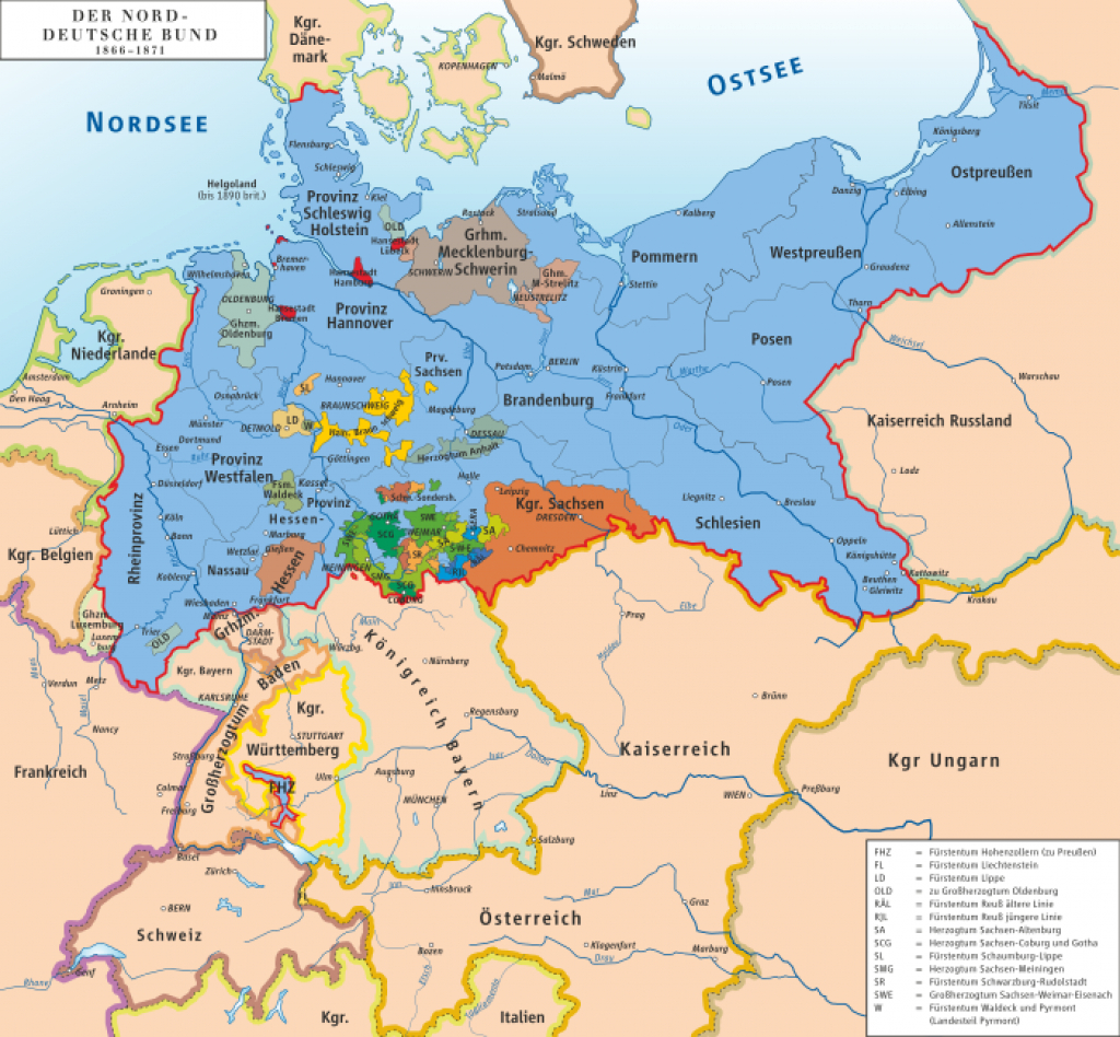 List Of Historic States Of Germany - Wikipedia inside German States Map 1850