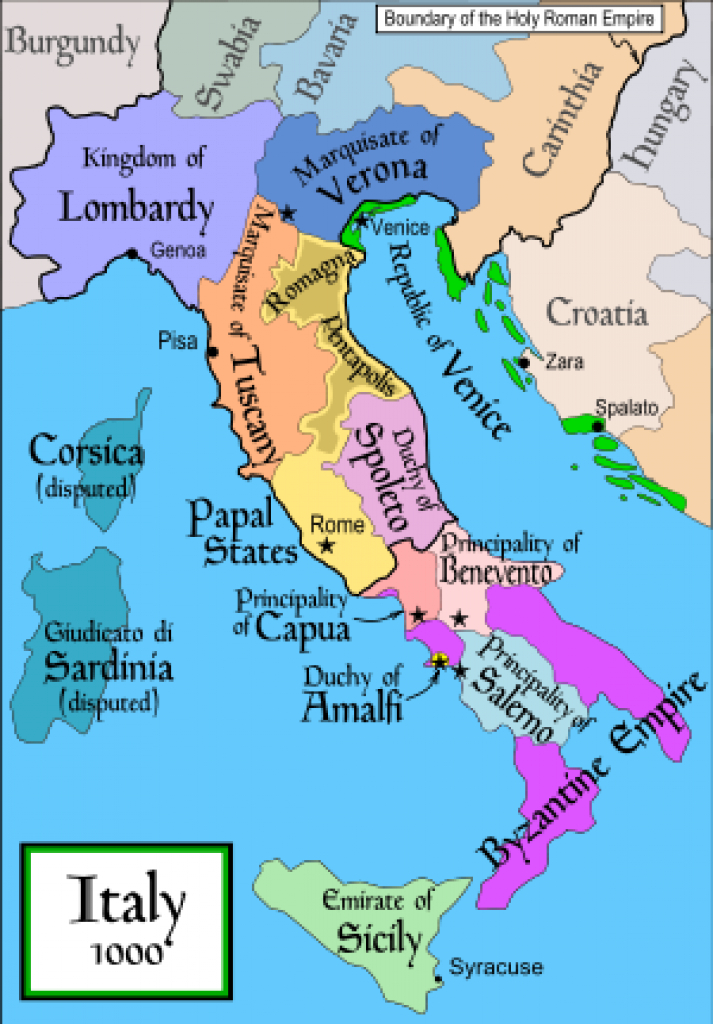 List Of Historic States Of Italy - Wikipedia intended for Italian States Map