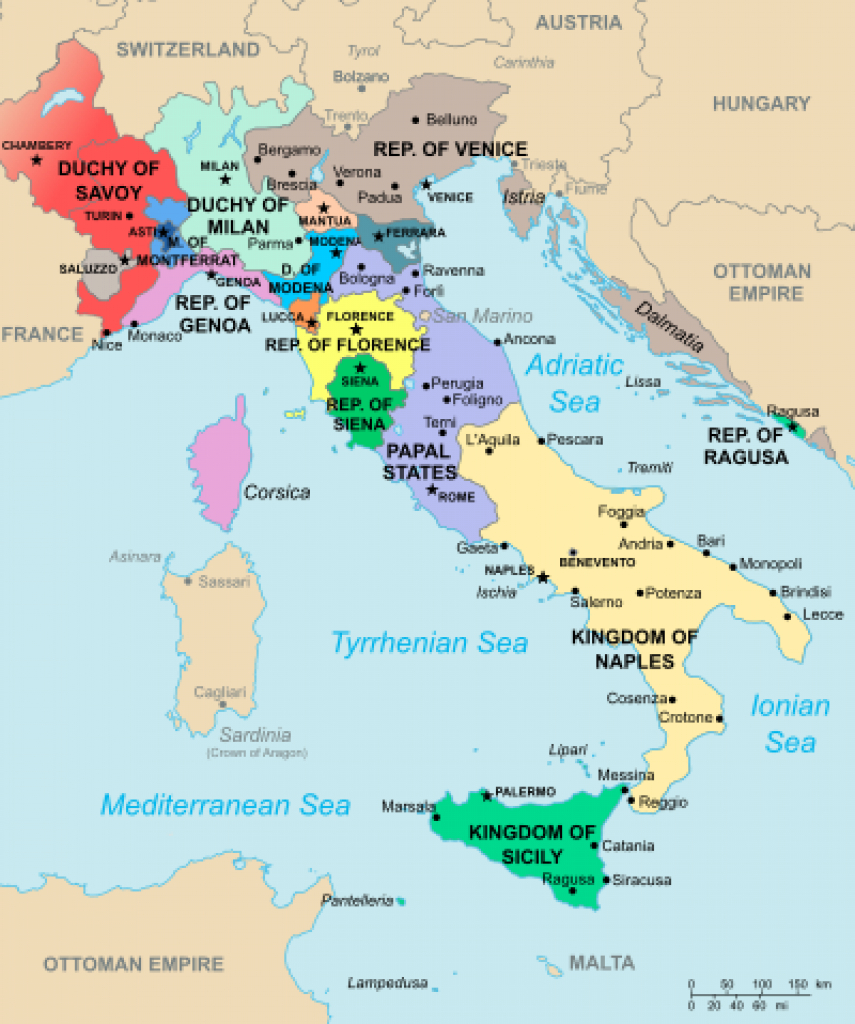 List Of Historic States Of Italy - Wikipedia with regard to Italian States Map