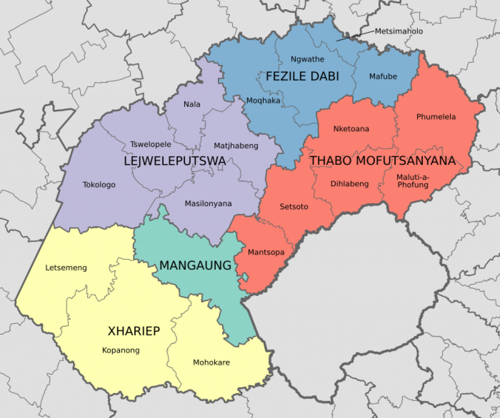 List Of Municipalities In The Free State - Wikipedia pertaining to Free State Map