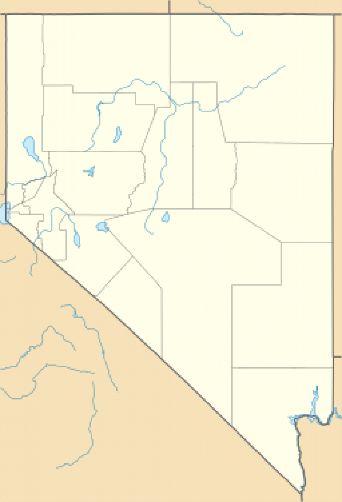 List Of Nevada State Parks - Wikipedia inside Nevada State Parks Map