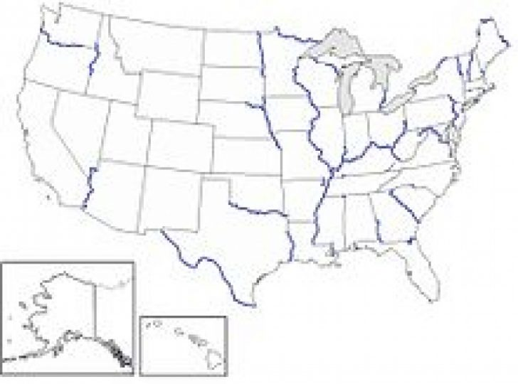 Us Map With State Borders