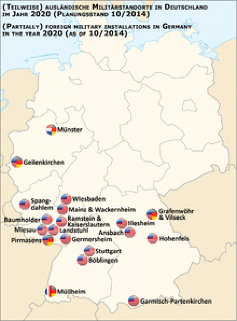 List Of United States Army Installations In Germany - Wikipedia intended for Military Bases United States Map