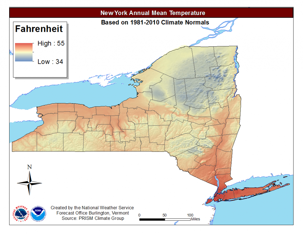 Local Climate Data And Plots within New York State Weather Map