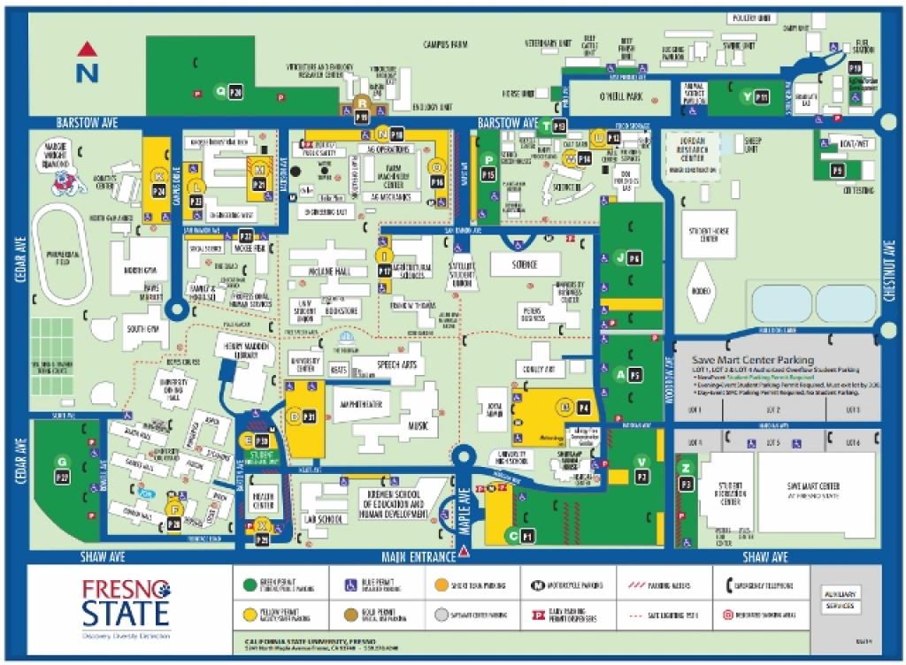 Location pertaining to Fresno State Campus Map