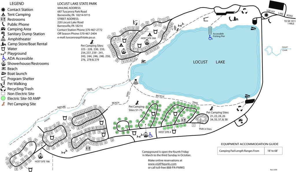 Locust Lake State Park - Maplets intended for Pennsylvania State Parks Camping Map