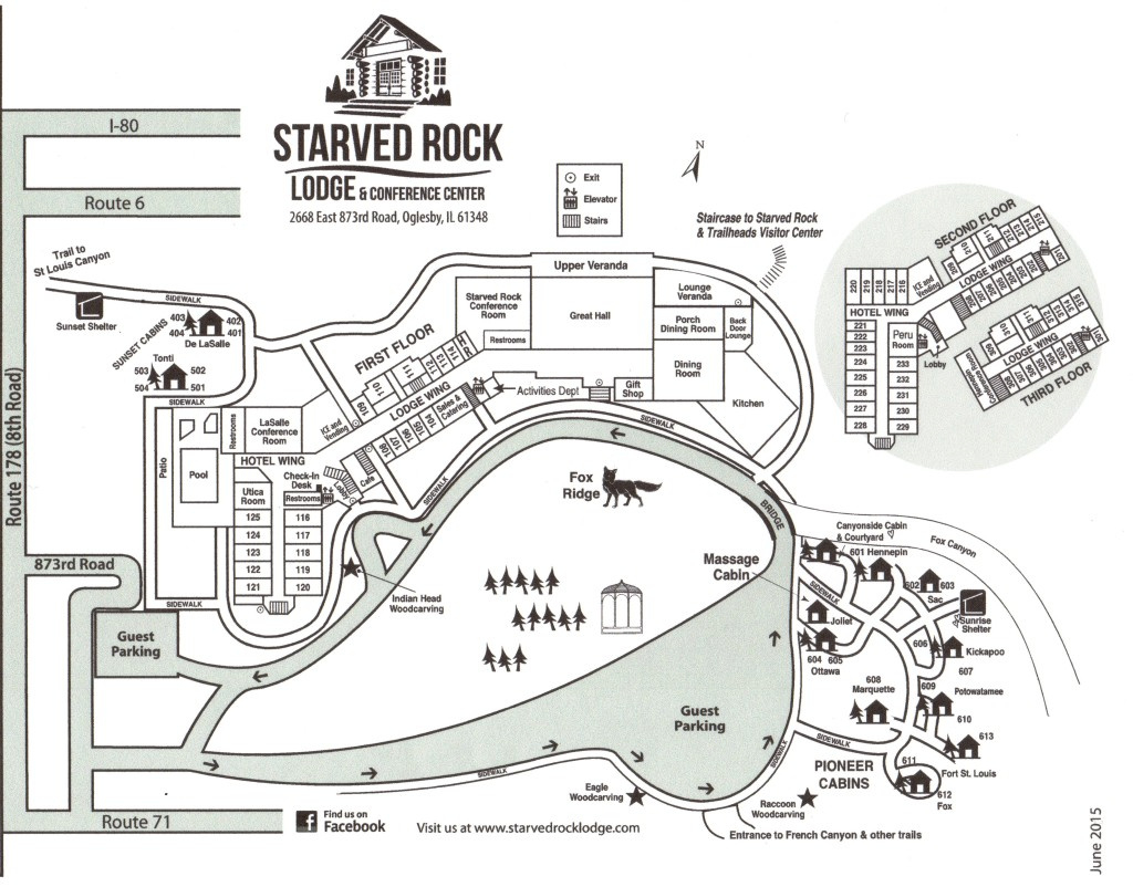 Lodge Grounds Map - Starved Rock Lodge & Conference Centerstarved regarding Starved Rock State Park Trail Map
