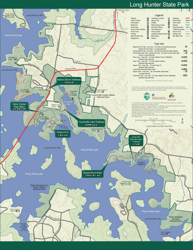Long Hunter State Park — Tennessee State Parks for Tennessee State Parks Map