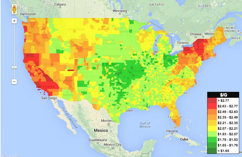 Look At How Cheap Gas Is Everywhere | Huffpost inside Gas Prices Per State Map