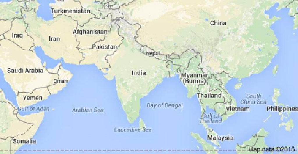Looks Like India's New Map Law Just Scared Google Into Showing J&k throughout Google Map Of India With States