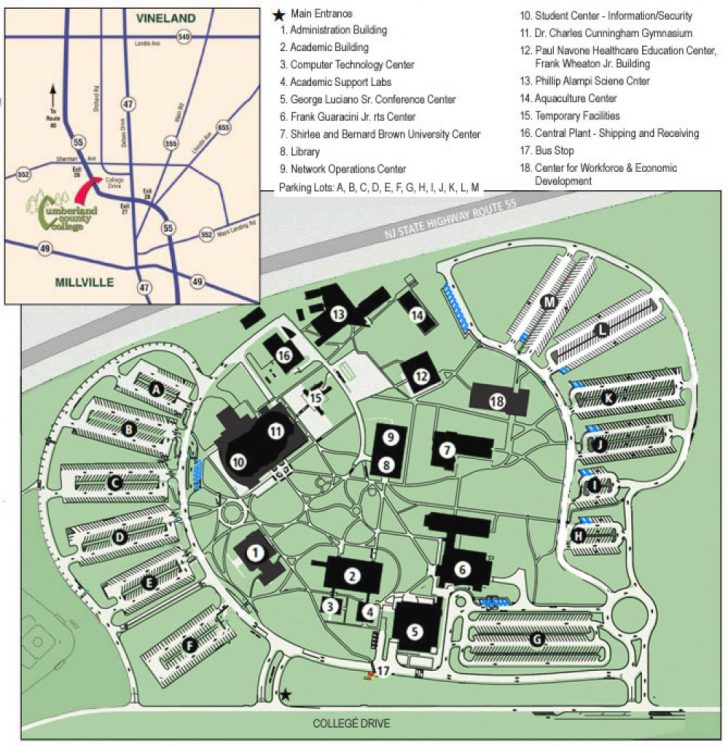 Delaware State University Campus Map