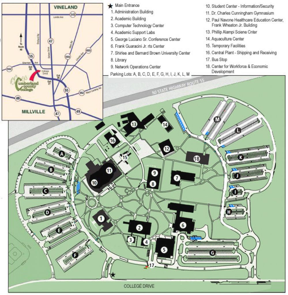 Luciano Conference Center: Campus Map And Driving Directions inside Delaware State University Campus Map